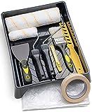 Tradelux® Rullo Per Pittura Professionale Teli Antigoccia Pennelli Set Kit Fai Da Te Verniciare Imbiancare...