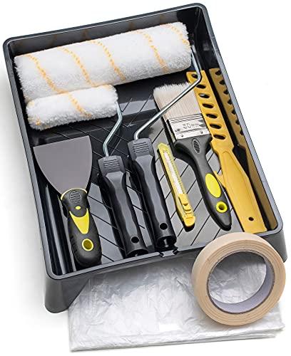 Tradelux® Rullo Per Pittura Professionale Teli Antigoccia Pe