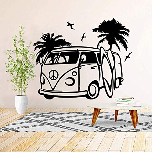 Vw Camper Van Wall Art Decal Vinyl Sticker Decor Mural Transfer Surf Beach Love 70X58Cm