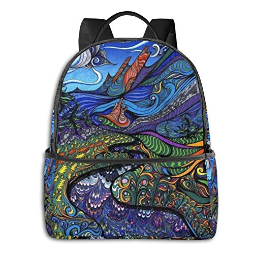 IUBBKI Mochila lateral negra Mochilas informales Extra Large Backpack Durable Backpack Multipurpose Daypack for Sports Outdoors Running Travel Stylish T-Rex Dinosaurs Laptop Backpack