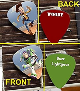 Set of Woody and Buzz Lightyear Toy Story premium Promo Guitar Pick Pic
