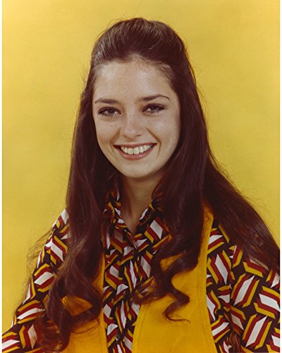"""Angela Cartwright Posed In Yellow Background - 8"""" X 10"""" Pop Culture Art Photographic Full Bleed Print - Premium Paper"""