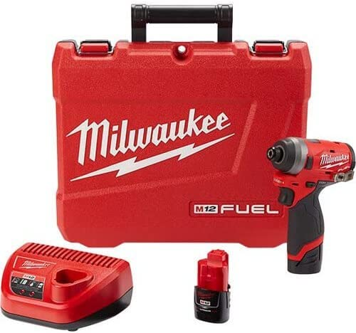 Milwaukee 2553 22 M12 FUEL 12 Volt Lithium Ion Brushless Cordless 1 4 in Hex Impact Driver Kit product image