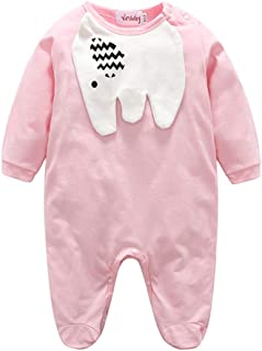 Fairy Baby Toddlers Baby Boys Girls 3D Elephant Footies Romper Cotton Long Sleeve Outfit