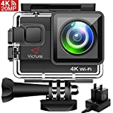 √ 【Video 4K UHD e Action Camera da 20 MP】: Offre immagini nitide da 20 MP e video ultra hd 4K (24 fps), quattro volte più pixel del Full HD, è possibile visualizzare chiaramente le riprese su TV 4K. √ 【Cam Impermeabile Fino a 40M】: Con la custodia so...
