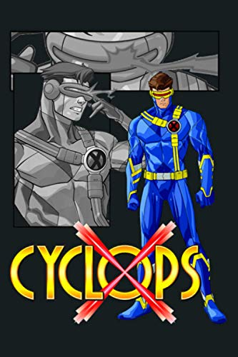 Marvel X Men Cyclops Collage Panel Logo Premium: Notebook Planner -6x9 inch Daily Planner Journal, To Do List Notebook, Daily Organizer, 114 Pages
