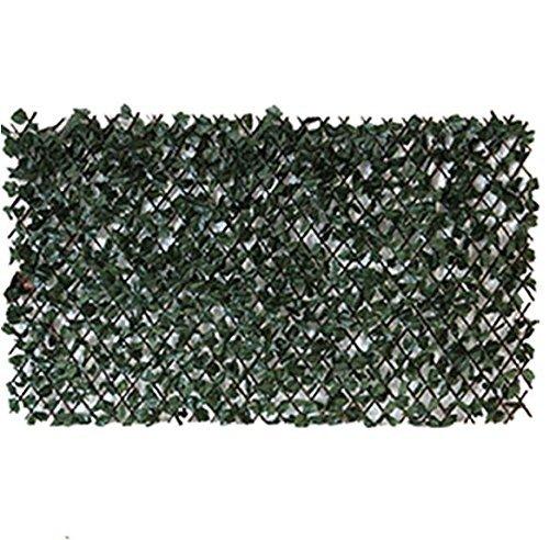Künstlicher Efeu Screening auf Weide Spalier Höhe 2m x 1m Wirth Zaun Heckenschere Maple Leaf Expansion Garten, Holz