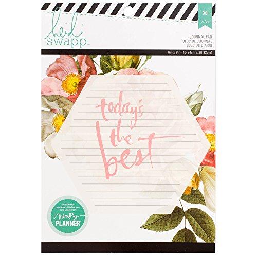 American Crafts Heidi Swapp Memory-Planner Journal-Papier Block 15,2x 20,3 cm, Acryl, Mehrfarbig