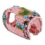 Outflower 1PC Decoración del Acuario Barril de Resina Decorativa decoración de pecera,9.5 * 7 * 5 CM
