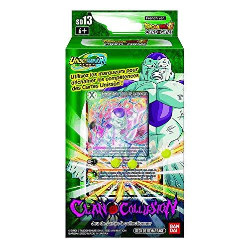 Dragon Ball Super Card Game – Deck di avviamento di 51 schede: Clan Collusion – Versione francese SD13
