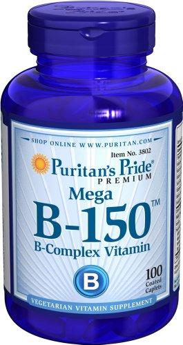 Puritan's Pride Vitamine B-150 Mega B-Complex 100 Tabletten 3802