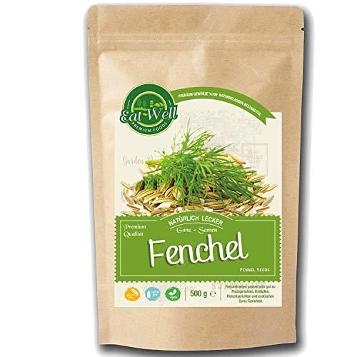 Fenchelsamen ganz (500g) | Fenchel Gewürz ganz (süß) • Fenchel Samen • Fencheltee |Fenchel Anis Kümmel Tee I Eat Well Premium Foods