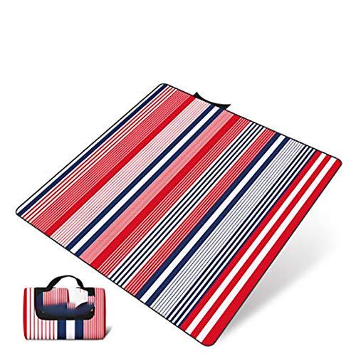 JSY Mat Pique-Nique étanche à l'humidité Tapis d'extérieur Plage Pliant Portable Pique-Nique Pique-Nique Tapis de pelouse Pique-Nique en Tissu épais imperméable Couverture de Pique-Nique (Color : A)
