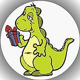 Decoración para tarta de cumpleaños de dinosaurios L11