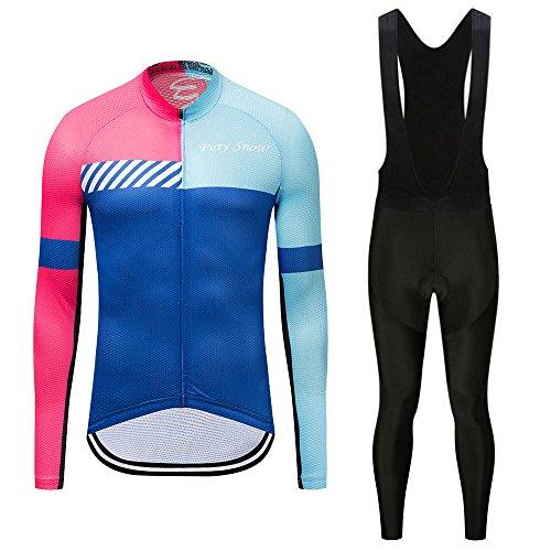 G-W-J fietsshirt met lange mouwen voor dames, fietskleding, ademend