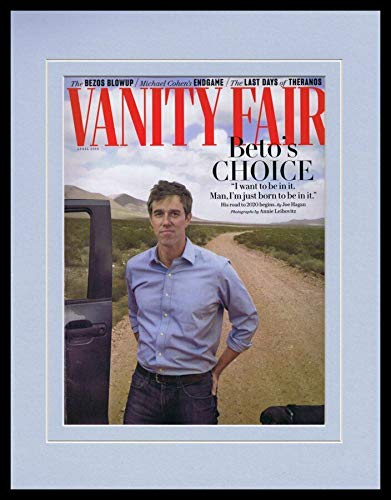 Beto O'Rourke Framed 11x14 ORIGINAL 2019 Vanity Fair Magazine Cover
