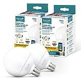 Garza ® Smarthome - 2 Bombilla LED Globo G95 Intelegente Wifi E27, luz blanca...