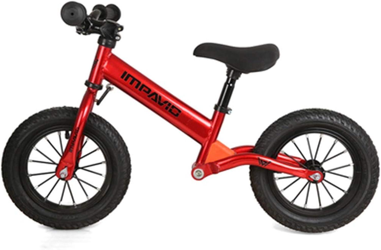 entrega gratis FFAJ Bicicleta para Niños Goma neumático neumático Equilibrio Equilibrio Equilibrio Coche 2-3-6 años Niño bebé Acero al Cochebono sin Pedal Dos Ruedas de Acero al Cochebono Scooter (Color   rojo)  servicio honesto