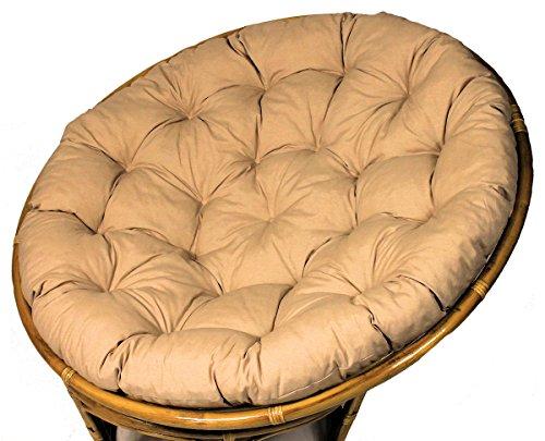 Rattani Polster für Papasansessel, Auflage, Ersatzpolster Papasan D 120 cm, Stoff Loneta beige, Made in EU