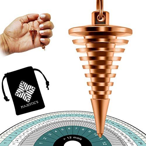 Péndulo Adivinación de Radiestesia - Vortex Egipcio con Espirales – Magnetizador, Zahorí, Clarividencia – Esoterismo