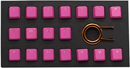 TaiHao Rubber TPR Gaming Backlit Keycaps Set for Cherry MX Mechanical Keyboards Compatible OEM (Neon Pink)