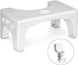 MALLBOO Tabouret de Toilettes inclinable en Bambou Portable pour Salle de Bain 17,8 cm et 22,9 cm
