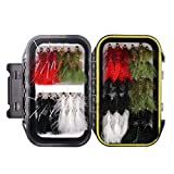 wifreo 30PCS Wooly Bugger Fly Trout Fishing Streamer Assortment with Waterproof Fly Box