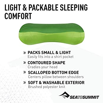 SEA TO SUMMIT Aeros Premium Pillow L Oreiller de Montagne, Alpinisme et Trekking, Adultes Unisexe, Vert (Lima)