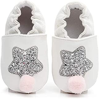 LiveBeauty Newborn Baby Girl Shoes, Soft Anti-Slip Rubber Sole Infant Toddler