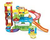 VTech – Toot Toot Drivers – Garage – Maxi Garage Educatif + Véhicule Tut Tut Bolides Version Anglaise