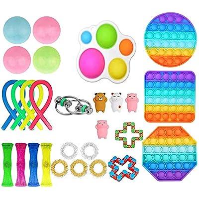 Fidget Set De Juguetes Sensoriales,25 Piezas Fidget Toys Juguetes para La Ansiedad Juguetes Los Dedos DescompresióN Sensorial Alivio del EstréS Y Juguetes contra La Ansiedad para Adultos NiñOs de
