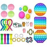 Fidget Set De Juguetes Sensoriales,25 Piezas Fidget Toys Juguetes para La Ansiedad Juguetes Los Dedos DescompresióN Sensorial Alivio del EstréS Y Juguetes contra La Ansiedad para Adultos NiñOs