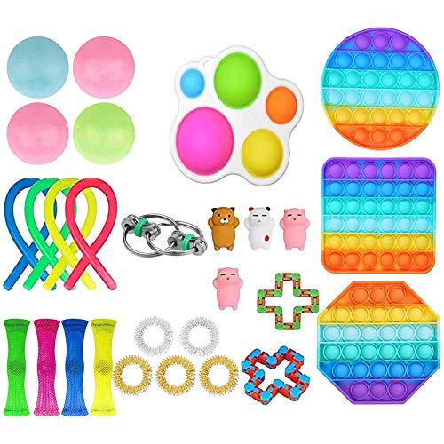Sensory Fidget Spielzeugset, Quetschspielzeug Anti Stress Sensorisches Spielzeug Set, Stressabbau-Spielzeug Set,Adhs Menschen Anti-Stress Pop It Toys