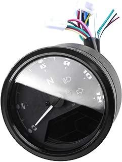 Festnight Motorcycle LCD Digital 0-12000RPM Speedometer Odometer Tachometer Gauge