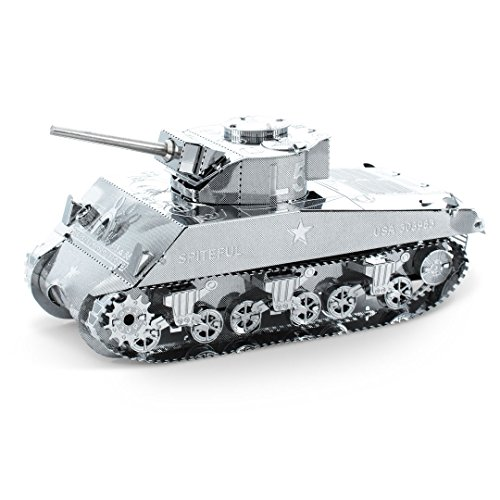 Fascinations Metal Earth MMS204 - 502460, Sherman Tank, Konstruktionsspielzeug, 2 Metallplatinen, ab 14 Jahren