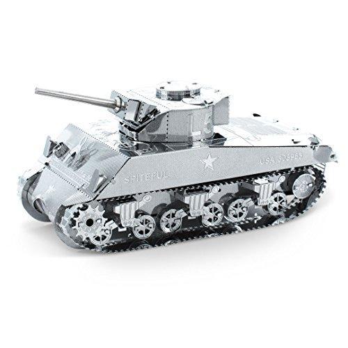 3D Fascinations Metal Earth Puzzle - ICONX Sherman Tank MMS204 - DIY 3D Model Kit / Metal Jigsaw Puzzle
