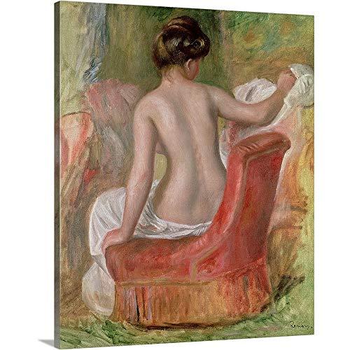 Nude in an Armchair, 1900' Canvas Wall Art Print, 20'x24'x1.25'