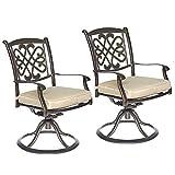 dali Patio Glider Chairs, Swivel Rocker, Garden Backyard Chairs Outdoor Patio Furniture 2 Pcs Sets