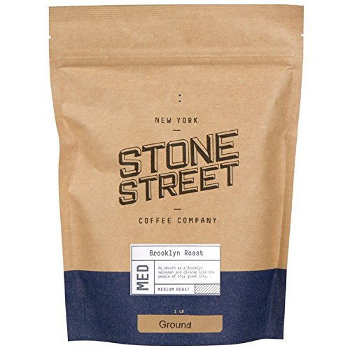 BROOKLYN SIGNATURE BLEND | Freshly Ground Coffee |1 LB Resealable Bag | Medium – Dark Roast Level - Bold & Balanced | Specialty Handcrafted 100% Arabica | Universal Grind Size