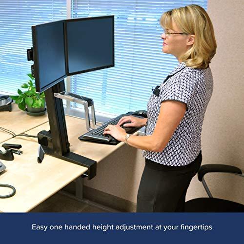 Ergotron - WorkFit-S Dual Sit-Stand Workstation - for Tabletops, Black