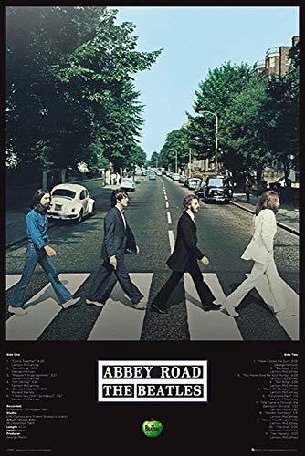 Close Up Beatles Poster Abbey Road Tracks (61cm x 91,5cm) + Geschenkverpackung. Verschenkfertig!