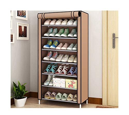 Zapatero Zapato de múltiples capas de zapatos desmontable a prueba de polvo a prueba de polvo, gabinete de zapatos, hogar, posición, posición, ahorro de espacio, soporte de soporte de zapatos, organiz