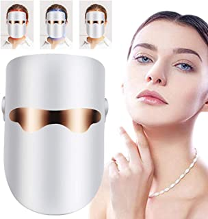 Light Therapy Mask Facial Acne Phototherapy Mask for Spot Face Skin Treatment Individually Lights of Red/Blue/Orange