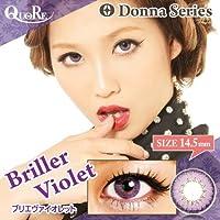 カラコン 度なし 1箱2枚入り QuoRe Donna Series/ソブレ/119132 14.5mm【BrillerViolet--0.00】