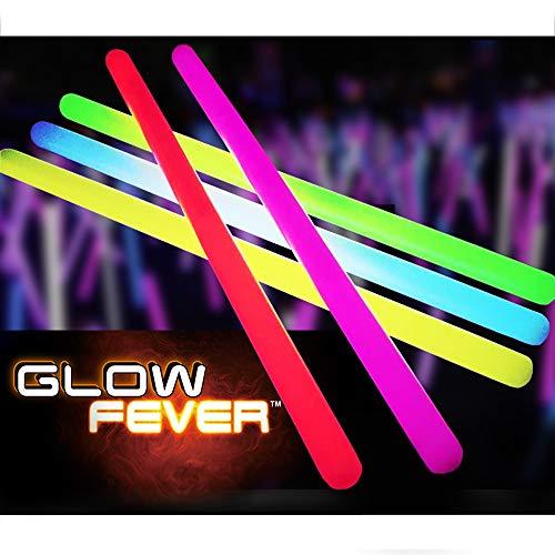 Glow Fever Bulk 25ct 15'' Premium Mega Glow Sticks, Great for Emergency Party Supplies Birthday Concerts Wedding (Multi)