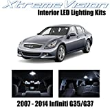XtremeVision Interior LED for Infiniti G35 G37 Sedan 2007-2014 (10 Pieces) Pure...