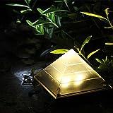 Licht Solar Außen, rameng Pyramide Lampe Solar am Boden Garten Projektor-Garten Wasserdicht IP65...