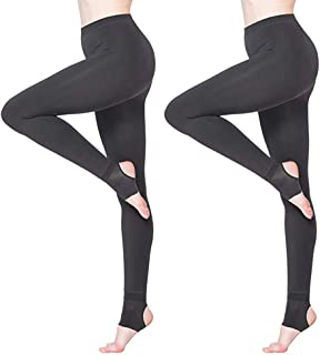 Women's Thermal Leggings Fleece Lined Casual Tights 2packs
