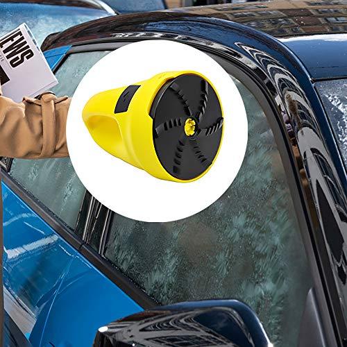 Elektrischer Eiskratzer, GGHKDD kärcher kehrmaschine für die Autoscheibe, Akkubetrieben, 15 min Laufzeit, 450g Gewicht, Schutzkappe, mit Ladegerät