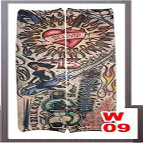 Handaxian 4pcsArm Plus Chaud Enfant Enfant Hommes Tatouage Manchon Dames matériau élastique Bras Chaud Costume 4pcs-12